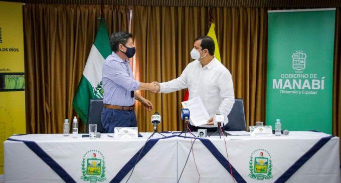 PREFECTURAS DE LOS RÍOS Y MANABÍ FIRMAN CONVENIO