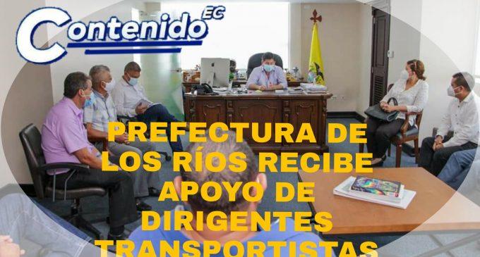 PREFECTURA DE LOS RÍOS RECIBE APOYO DE DIRIGENTES TRANSPORTISTAS