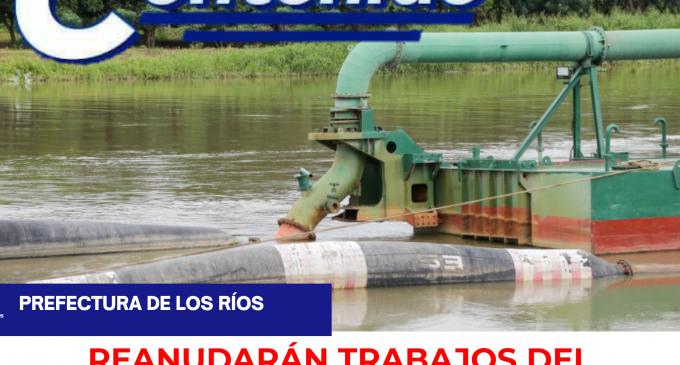 RELLENO HIDRÁULICO SE REANUDARÁ EN LAS PRÓXIMAS HORAS  EN EL BY PASS