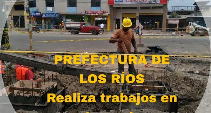 PREFECTURA DE LOS RÍOS REALIZA TRABAJOS EN QUEVEDO