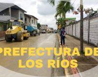 PREFECTURA DE LOS RÍOS ARREGLA CALLES EN SAN CAMILO