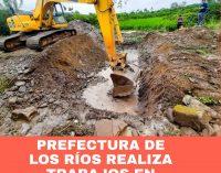 PREFECTURA DE LOS RÍOS CONTINÚA TRABAJOS EN QUINSALOMA